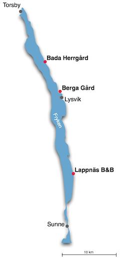 Karta över Frykendalsleden